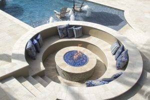 Fireplaces and Firepits #001 by Pools by John Clarkson